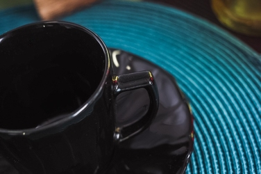 Lubiana sunny filiżanka 0.2 l ze spodkiem czarny