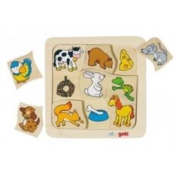 Goki puzzle - co jedzą zwierzątka