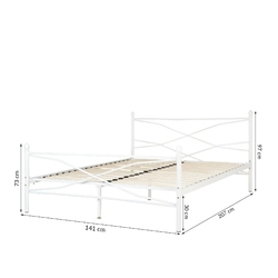 Łóżko metalowe christina 140x200 białe