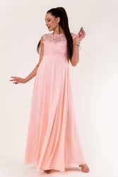 Evalola sukienka pudrowy róż 60005-11