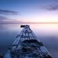 Pomost nad wodą - fototapeta 366x254 cm