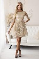 Złota  sukienka brokatowa na wesele, studniówkę, bal 2243