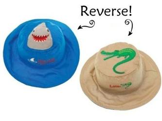 Dwustronny kapelusz flapjack - l - rekin  aligator