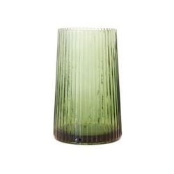 Hk living :: wazon szklany zielony 20cm