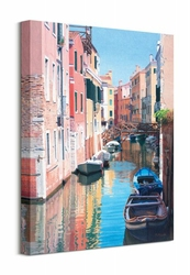 Venice, Canal Reflections - Obraz na płótnie