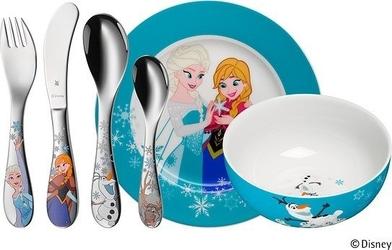 Sztućce i naczynia dziecięce frozen 6 szt.