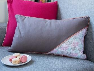 Poszewka na poduszkę bawełniana dekoracyjna altom design trójkąty dek. i 30 x 50 cm