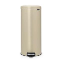 Brabantia - kosz newicon - 30 l - plastikowe wiadro i wolnoopadająca pokrywa - złota powłoka mineralna - złoty