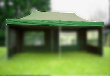 Dach do pawilonów namiotów ogrodowych 3x6m automatycznych - zielony