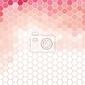 Naklejka różowe i białe sześciokątne siatki