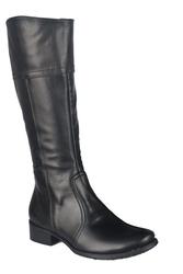 Obuwie kozaki damskie skóra naturalna czarne 636 elitabut - czarne