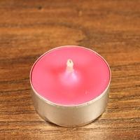 Tealight - świeca z wosku herbaciarka - różowa 6 sztuk