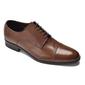 Eleganckie i luksusowe brązowe skórzane buty męskie typu derby rozmiar 43,5 45