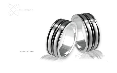 Obrączki srebrne - wzór ag-040