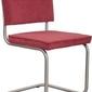 Zuiver :: krzesło ridge brushed rib czerwone 21a