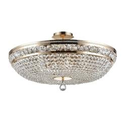 Lampa sufitowa duża, złota, kryształowa ottilia maytoni classic dia700-cl-12-g