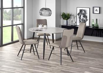Stół nowoczesny z okrągłym blatem - metalowe nogi - belato