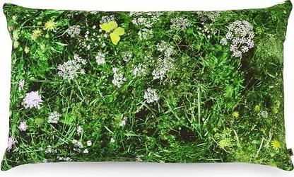 Poduszka foonka alpejska łąka 50 x 30 cm z wypełnieniem z łusek gryki