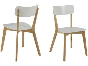 Krzesło reda drewniane białe