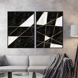 Zestaw dwóch plakatów - smart marble , wymiary - 20cm x 30cm 2 sztuki, kolor ramki - biały