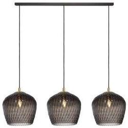 Kaspa :: lampa wisząca venus listwa 3 klosze grafitowo-czarna