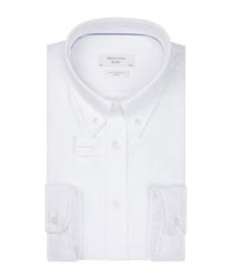 Biała koszula profuomo z miękkiego oksfordu z kołnierzem na guziki 39