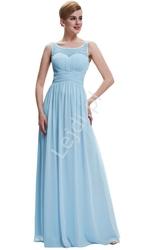Suknia dla druhny, na wesele, długa sukienka wieczorowa błękitna
