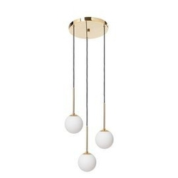Kaspa :: lampa wisząca lamia 3 klosze złota