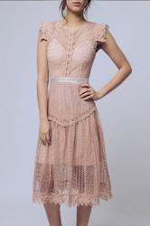 Soky soka  sukienka kremowy 57003-2