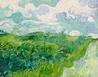 Green wheat fields, auvers, vincent van gogh - plakat wymiar do wyboru: 59,4x42 cm