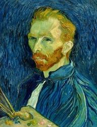 Autoportret 1889, vincent van gogh - plakat