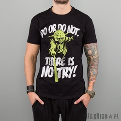 Koszulka star wars - yoda there is no try