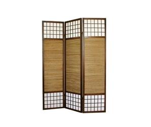 Parawan drewniany 3-skrzydłowy, bambus i papier ryżowy