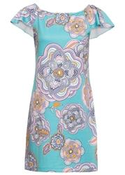 Letnia sukienka bonprix turkusowo-lila-różowy w kwiaty
