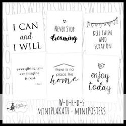 Zestaw mini plakatów Words 15x20 cm