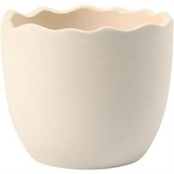 Skorupka jajka 7,5x6,3 cm - biała terakota