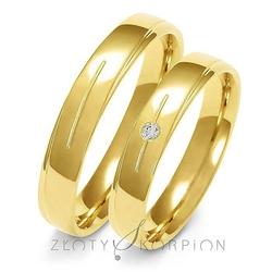 Obrączki ślubne złoty skorpion – wzór au-a155