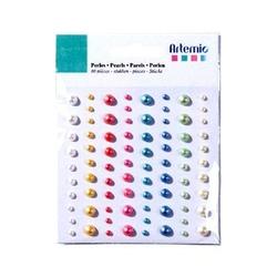 Kolorowe perełki ozdobne do naklejania 80 szt.