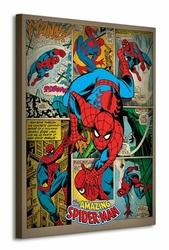Spider-Man Retro - Obraz na płótnie