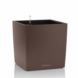 Donica lechuza cube 30 - espresso - 30x 30 x 30 cm, matowa - espresso