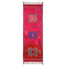 Hkliving :: wełniany dywan różowy 70x200 cm