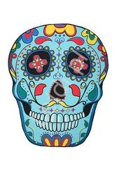 Piknikowa chusta meksykańska czaszka,  mata piknikowo plażowa muerte skull