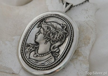 Kamea - srebrny wisior na prezent