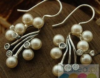 Legacy - srebrne kolczyki perły i kryształy