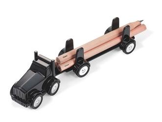 Stylowy przybornik na biurko ciężarówka lumbertruck marki troika - czarny