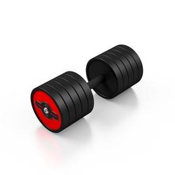 Hantla stalowa gumowana 40 kg czerwony połysk - marbo sport - 40 kg