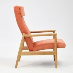 Politura :: fotel finch z wysokim oparciem różowy wys. 64 cm