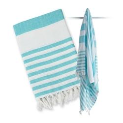 Ręcznik turecki wielofunkcyjny 150x100 - błekitny