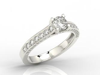 Pierścionek z białego złota z brylantami 0,78 ct wzór lp-50b - białe  diament