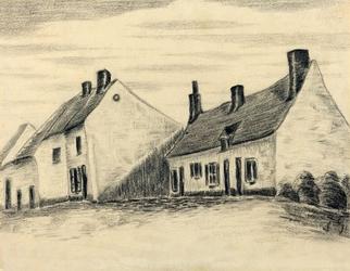 The zandmennik house, vincent van gogh - plakat wymiar do wyboru: 40x30 cm